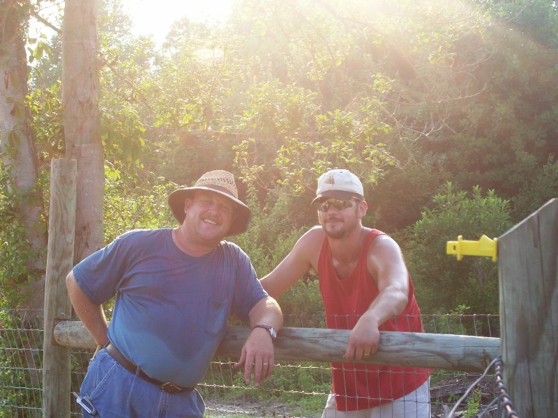 2004-june-david-brian-working-on-the-fence-at-arrowhead-acres